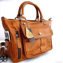 Genuine Vintage Leather Woman Bag Retro Art Design Soft Tote Handbag Lady Hobo  Photo