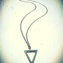 Geometric Gunmetal Triangle Spike Necklace-Boho Vintage Jewellery-Gothic Jewelry Photo