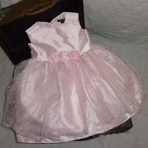 George Light Pink Blush Wedding Party Formal Dress With Flowers Size 5 5t Photo