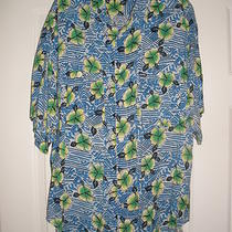Georges Marciano for Guess Hawaiian Print Shirt Mens Sz Medium Eu 2 Cruise Luau Photo