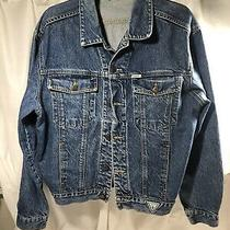 Georges Marciano Guess Denim Blue Jean Jacket Mens Size M Made in Usa Buttons Photo