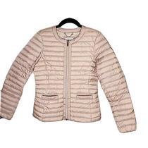 Geox Respira Womens Down Jacket Dark Blush Size 38 Small Photo