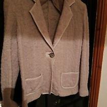Gerard Darel Blush Wool Feel Knitted Style Jacket. Size 44 Photo