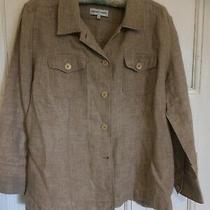 Gerard Darel Pure Linen Jacket/top/shirt Size 42 Photo