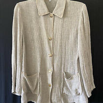 Gerard Darel Tan Linen Jacket Blazer Sz 38 Photo