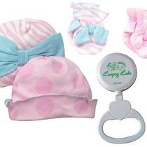 Gerber 100% Cotton Cap and Newborn Mittens-Girls Loopsy Lulu Rattle-One Size Photo