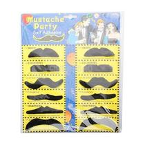 Gib 12 Fake Moustaches Mustache Stylish Set Fancy Party I Photo