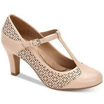 Giani Bernini Womens Vineza2 Open Toe T-Strap Mary Jane Pumps Blush Size 6.0 J Photo
