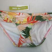 Gianni Bini Size S Small Blush Palms Belted New Womens Swim Bikini Bottoms Photo
