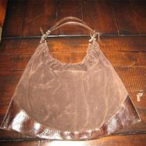 Gianni Chiarini Italy Italian Leather Suede Chocolate Hobo Shoulder Bag Unique Photo
