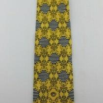Gianni Versace 1/2 Scrollwork 1/2 Checks Goldsmulti 58 X 3 3/4 Silk Tie   Photo