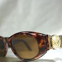 Gianni Versace 424/c Tortoise With Swarovski Crystals Vintage 90s Sunglasses Photo