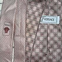 Gianni Versace 58 1/2 X 3 1/2 Medusa Pink Silk Tie Made in Italy Photo