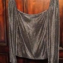 Gianni Versace Authentic Women's Black Knit Silk Sleeveless Top Shirt Blouse M L Photo