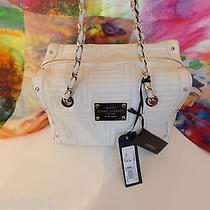 Gianni Versace Borsa Couture White Leather Quilted Greek Pattern Handbag  Photo