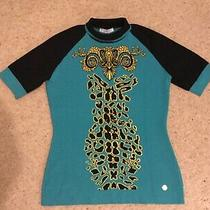 Gianni Versace Collection  1/2 Sleeved Top Jumper Uk 10 It 44 Photo
