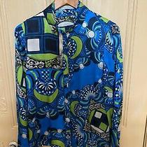 Gianni Versace Collection Silk Shirt Blouse Italy S. 44 Collar Removeable Nwot Photo