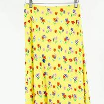 Gianni Versace Couture Made in Italy Yellow Women's Floral a-Line Skirt Sz 38 Photo