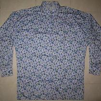 Gianni Versace Couture Purple Floral Made in Italy Shirt  Photo