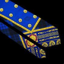 Gianni Versace Couture Vintage '90s Baroque Heraldry Blue Medusa Tie Atelier Photo