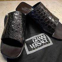 Gianni Versace High End Collectors' Item Circa 1985 Pre-Dead Crocodile Sandals Photo