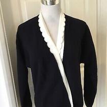 Gianni Versace Italy Indigo Double-Breasted Woolcardigan (111  Uk 14) Bnwot Photo