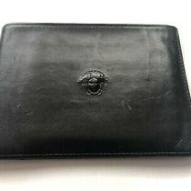 Gianni Versace Men's Vintage '90s Medusa Embossed Leather Bifold Wallet Photo
