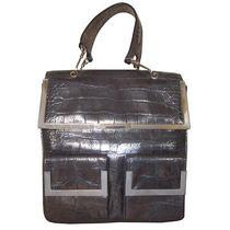 Gianni Versace Metallic Brown Moc Croc Handbag Photo
