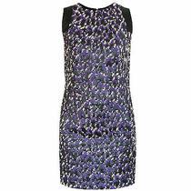 Gianni Versace Purple Black White Boucle Tweed Sleeveless Dress 40-It/4-Us New Photo