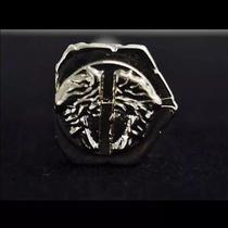 Gianni Versace Silver Medusa Face Bolt Pin Brooch Photo