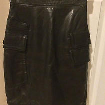 Gianni Versace Vintage Couture Lamb Skin Skirt New Size S Photo