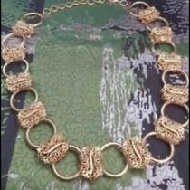 Gianni Versace  Vintage Rare Women Metal Belt 105 Cm. Tot Main Lin New Old Stock Photo
