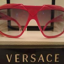 Gianni Versace Vintage Sunglasses Basix 816 Red Oakley Sport Rap Hip Hop Nos Photo