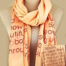 Gift Idea Sister Scarf Inspirational Worded Photo