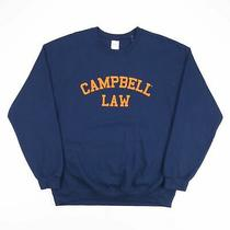 Gildan Campbell Law Blue American Round Neck Sweatshirt Mens L Photo
