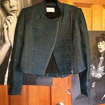 Ginger and Smart Green Rose Gold 'Lacquer Jacket' Size 8 Rrp 799 Photo