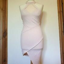 Ginger Fizz Nude Blush Pink Backless Zip Aysmetric Hem Dress Size Xs Photo