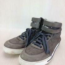 Giorgio Armani  40 Khk Leather Size Us 7 From Japan Sneaker 2501 Photo