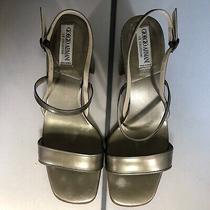 Giorgio Armani Authentic Womans Shoe Size 6 1/2 Silver/green Photo