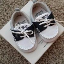 Giorgio Armani Baby Shoes 15 Graphite Photo