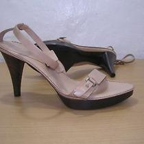 Giorgio Armani Beige Leather Ankle Strap Sandals 8us 39 Eu New 465 Photo