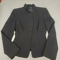 Giorgio Armani Black Blazer/jacket 100% Wool Silk Lining Womens Italian Sz 38 Photo