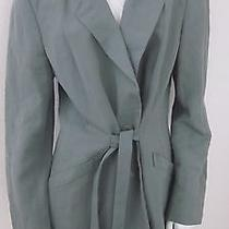 Giorgio Armani Black Label Collection Other Green Linen Jacket Size 14 Italy  Photo