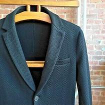 Giorgio Armani Black Label Herringbone Mens Blazer Jacket Sz Medium Photo