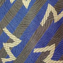 Giorgio Armani Blue Gray Beige Diagonal Stripe/lightening Bolt  Silk Tie 58