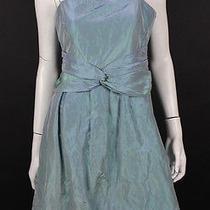 Giorgio Armani Blue & Green Shot Silk Iridescent Cocktail Dress 44 Photo