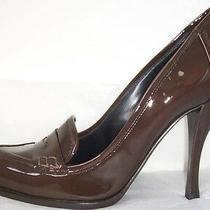 Giorgio Armani Brown Patent Leather Pumps Shoes 39 9 Photo