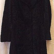 Giorgio Armani Classico Black New Zealand Lamb Coat40italy Photo