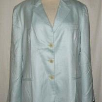 Giorgio Armani Classico Light Blue Wool/silk Button Front Blazer Jacket Sz Large Photo