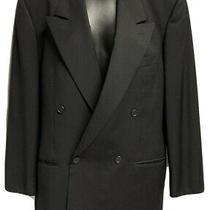 Giorgio Armani Collezione Mens Black Peak  Double Breasted Jacket Size 44 Photo